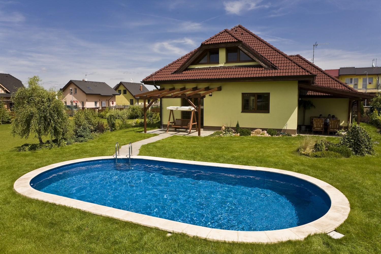 Купить Морозоустойчивый бассейн Ibiza овальный глубина 1,2 м размер 8,0х4,16 м, мозайка,