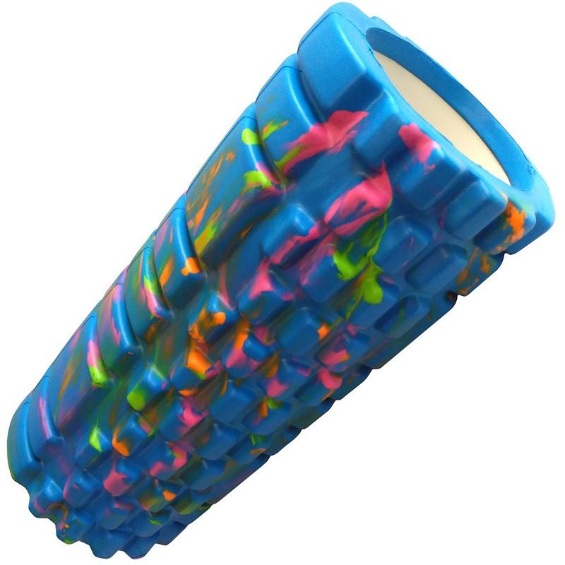 Купить Ролик для йоги Sportex (голубой/мультиколор) 33х14см ЭВААБС B33123,