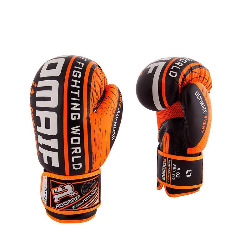 Купить Боксеркие перчатки Roomaif RBG-242 Dx Orange 10 oz,