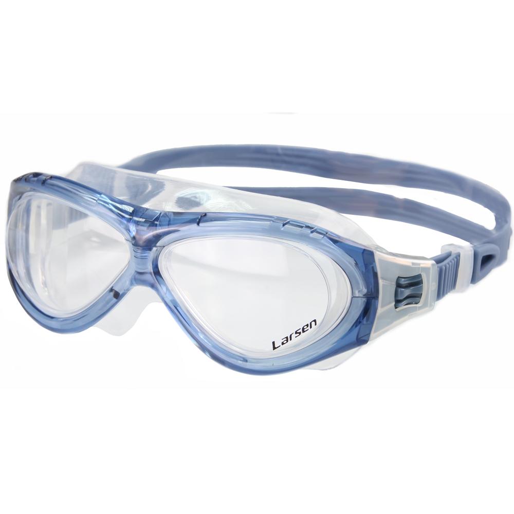 Купить Очки для плавания Larsen К5 силикон синий,