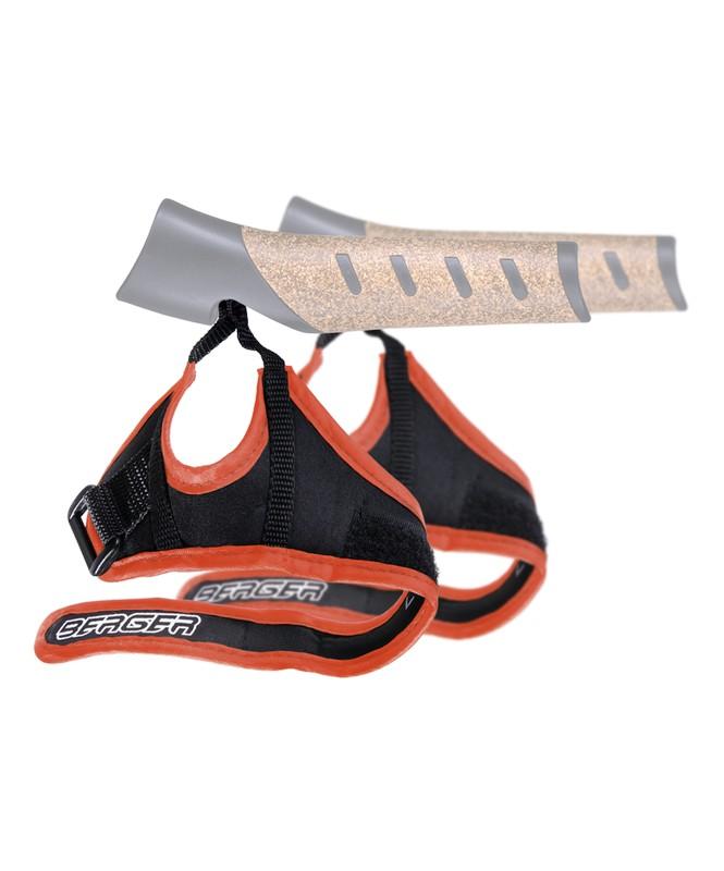 Комплект темляков для скандинавских палок Berger 2 шт чёрный/оранжевый