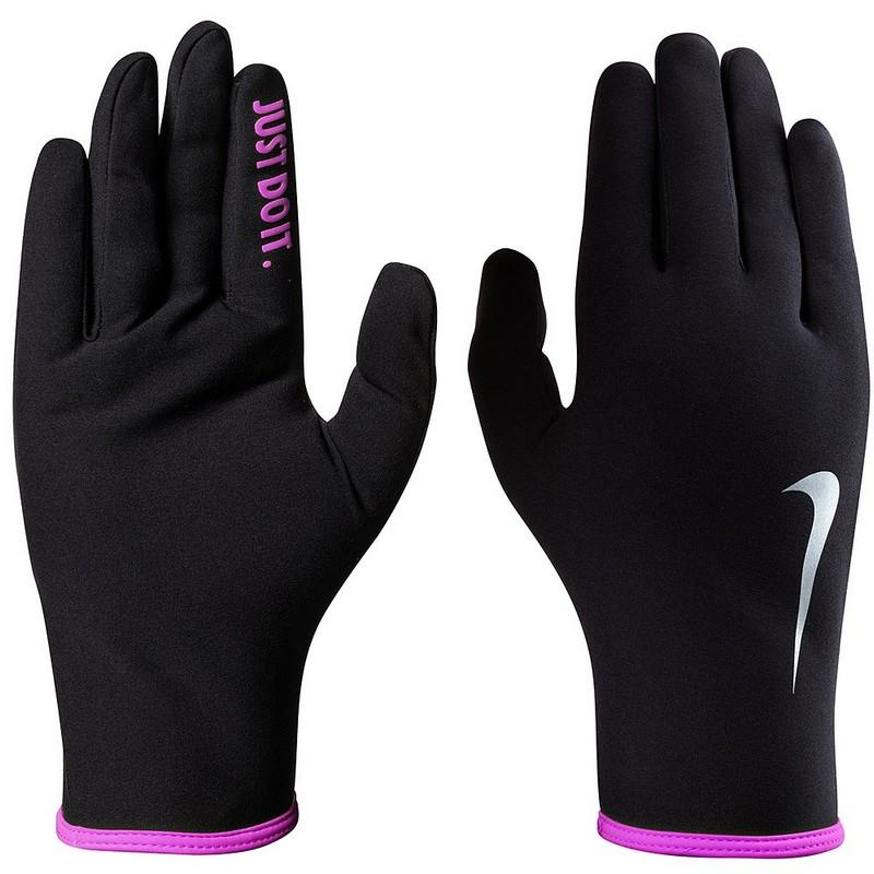 Перчатки для бега Nike Womens Lightweight Rival Run Gloves 2.0 M Black/Hyper Pink/Silver nike перчатки для фитнеса женские nike