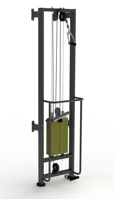 Купить Тренажер для реабилитации ProfiGym стек 80 кг, Профи ТРБ2500-П-1-80Р (Rubin),