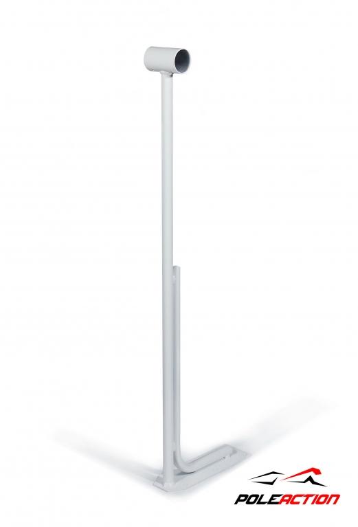 Модель №2 – стойка балетного (хореографического) станка Poleaction одноуровневого (цвет - белый) 569