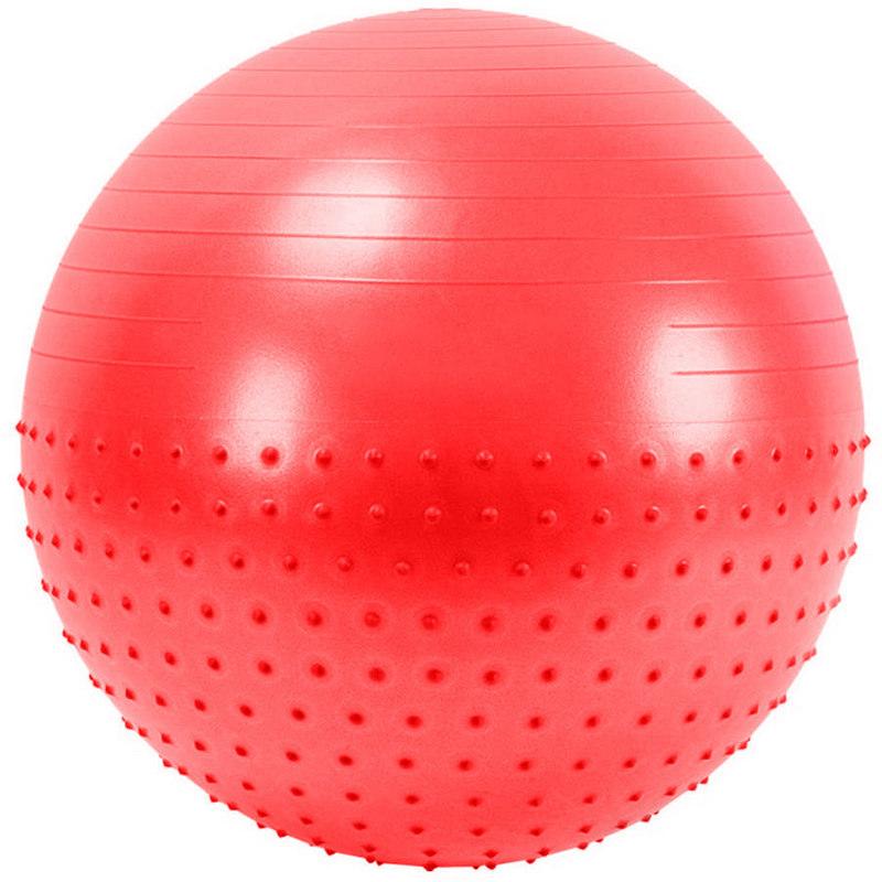 Мяч гимнастический Anti-Burst полу-массажный 55 см FBX-55-1, красный фото
