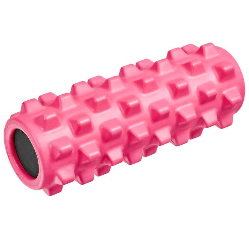 Купить Ролик для йоги полнотелый B33090 (розовый) 33х12см., ЭВА/ПВХ/АБС, NoBrand