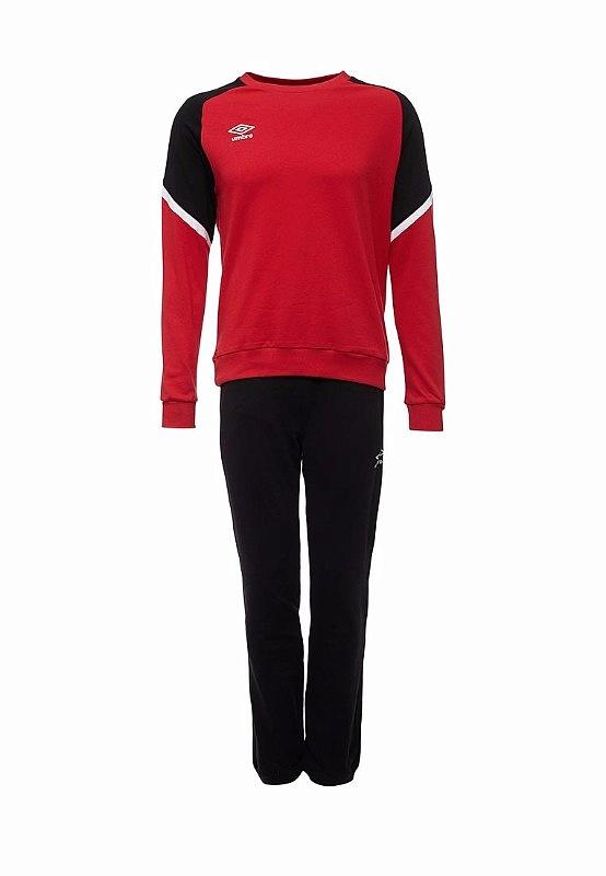 Костюм спортивный Umbro Avante Cotton Suit 350117 (261) красн/чер/бел.