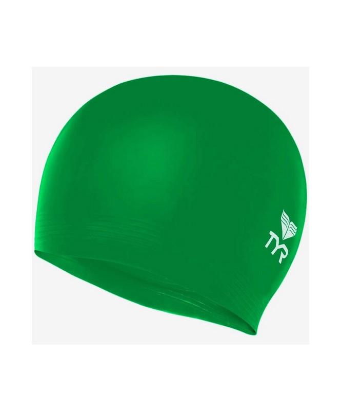 Шапочка плавательная TYR Latex Swim Cap, латекс, LCL310 зеленый,  - купить со скидкой