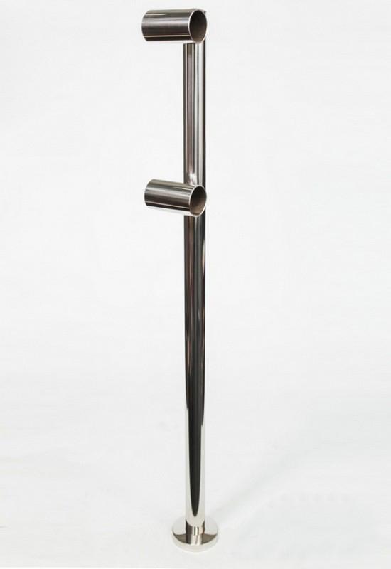 Купить Модель №18- стойка балетного (хореографического) станка Poleaction двухуровневого Элегант 627 нержавеющая сталь,