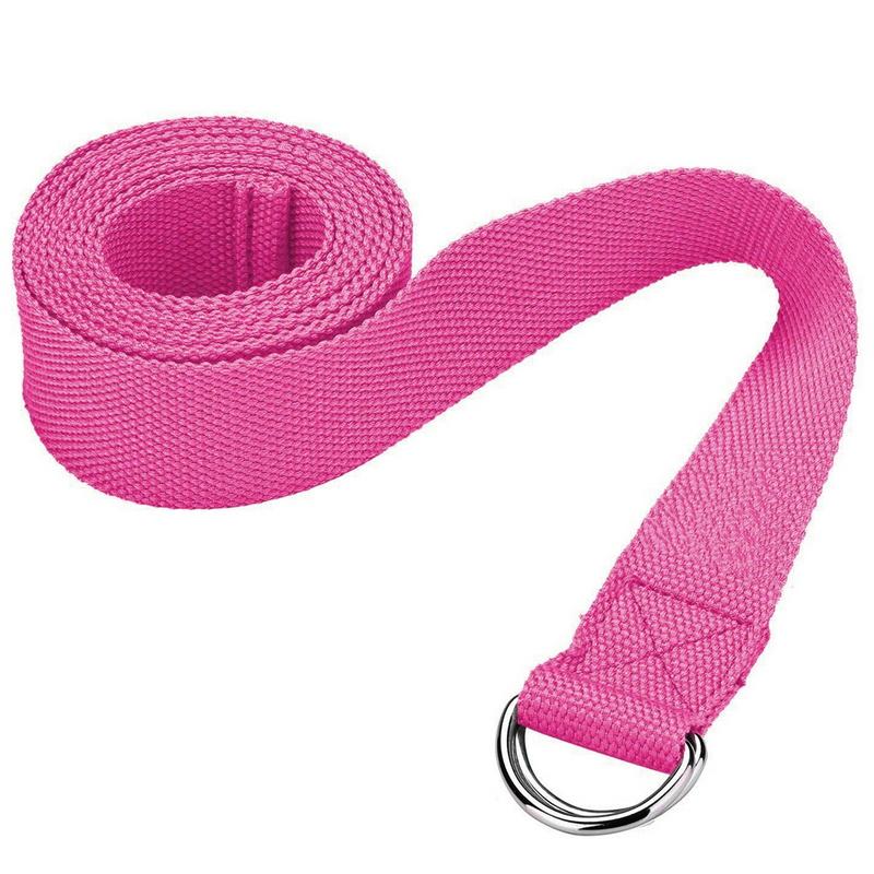 Купить Ремешок для йоги Start Up NT18021 183х3,8 см розовый,