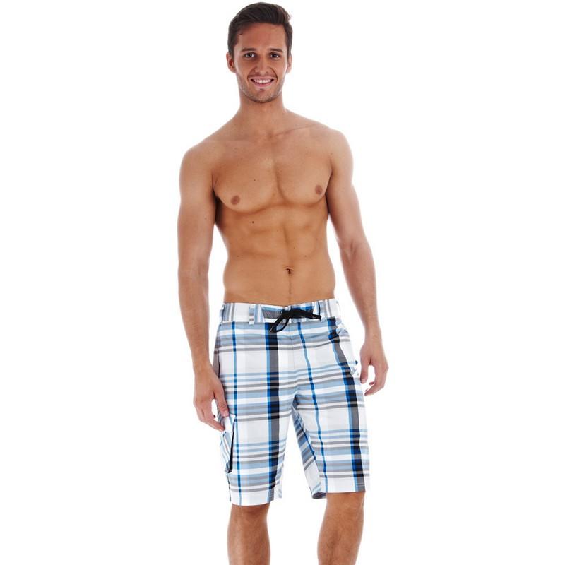 Шорты пляжные Speedo Springtide Yarn Dyed 22 quot; мужские (7748) гол/чер. o ring front buttoned cuff blouse