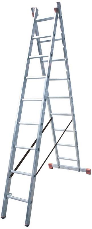 Универсальная лестница Krause MONTO DUBILO 2х9 перекладин, 270-435 см 120571 универсальная лестница krause monto tribilo 3х8 перекладин 240 525 см 121226