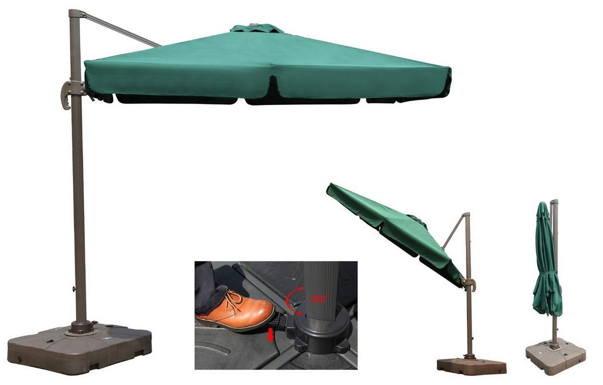Зонт садовый подвесной GardenWay A002-3030 Зеленый