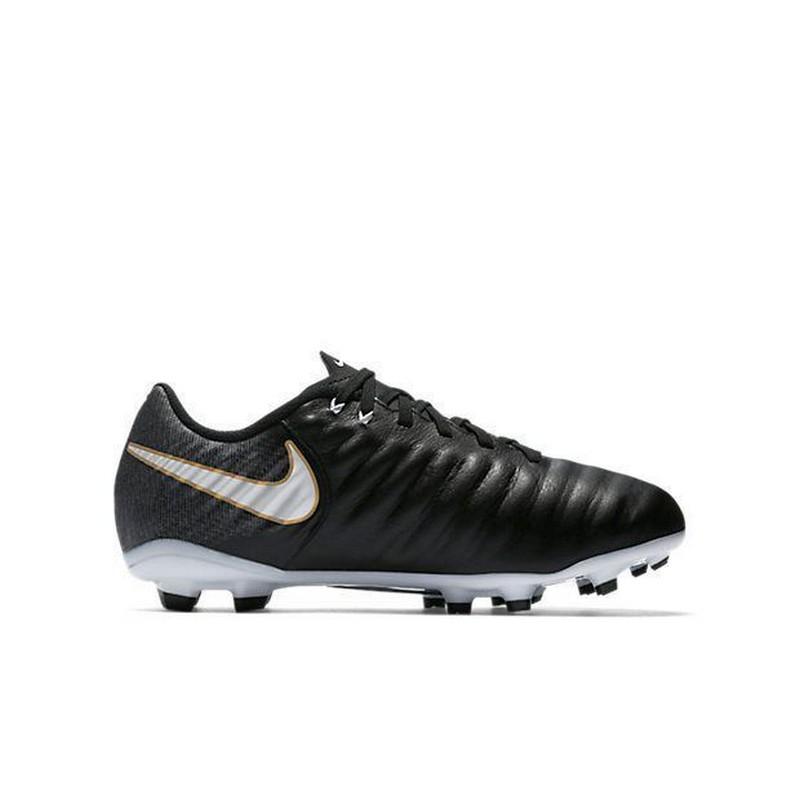 Бутсы футбольные Nike Tiempo Ligera IV FG 897725-002 JR детские черные