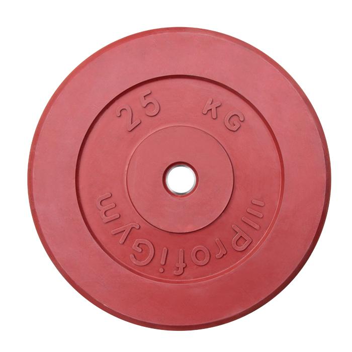 Купить Диск обрезиненный ProfiGym D31 мм красный 25,0 кг ДТРЦ-25/31,