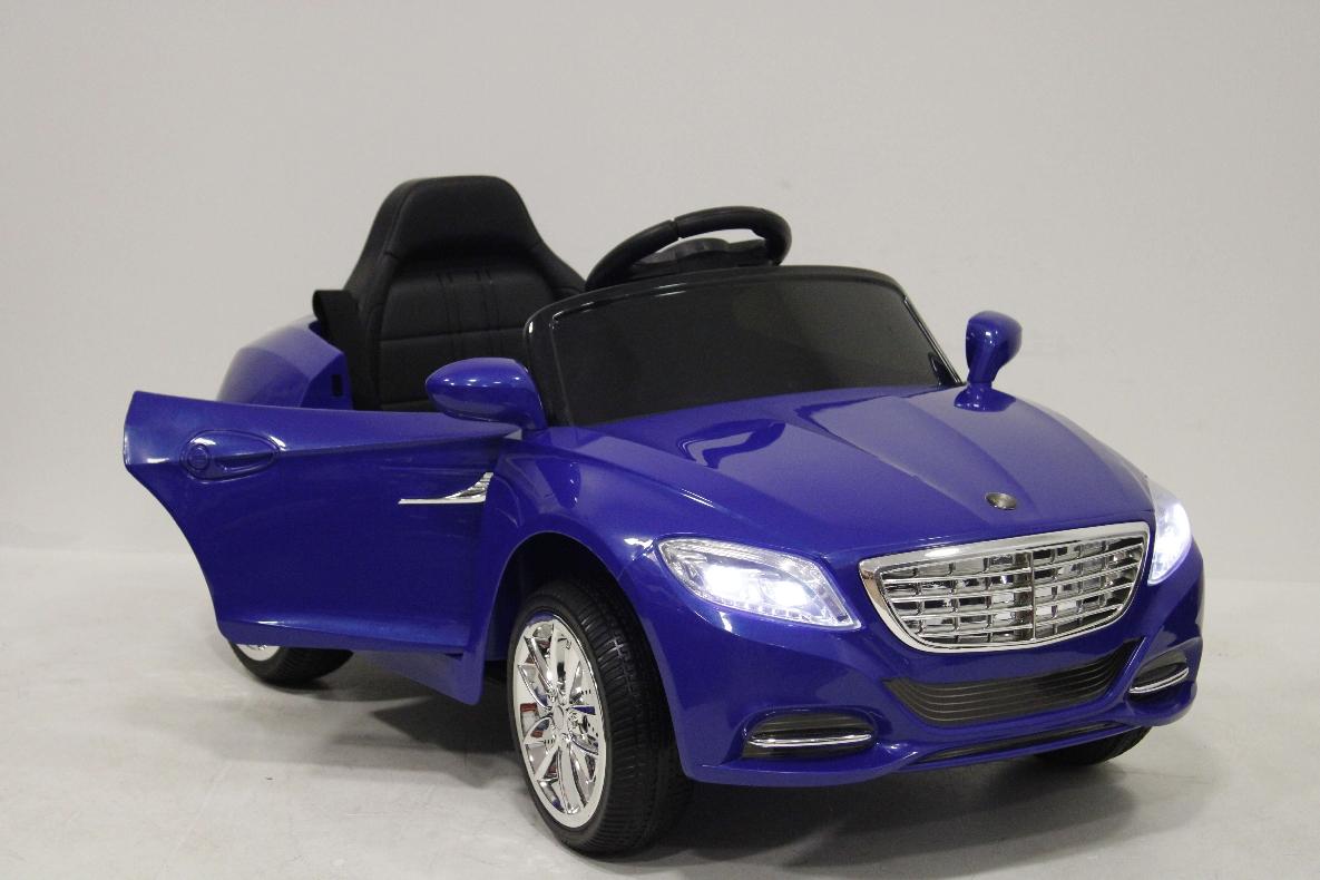 Детский электромобиль River-Toys Mercedes T007TT синий с ДУ
