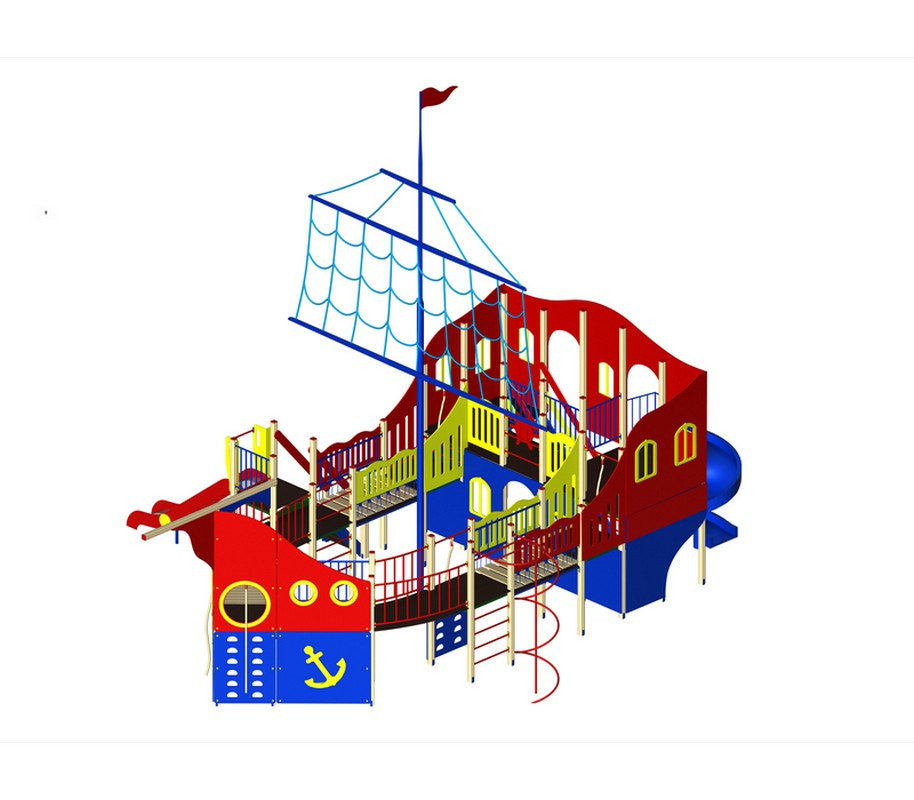 Купить Детский игровой ко мплекс Фрегат МАФ 1326х911х950 см Дик 1304,