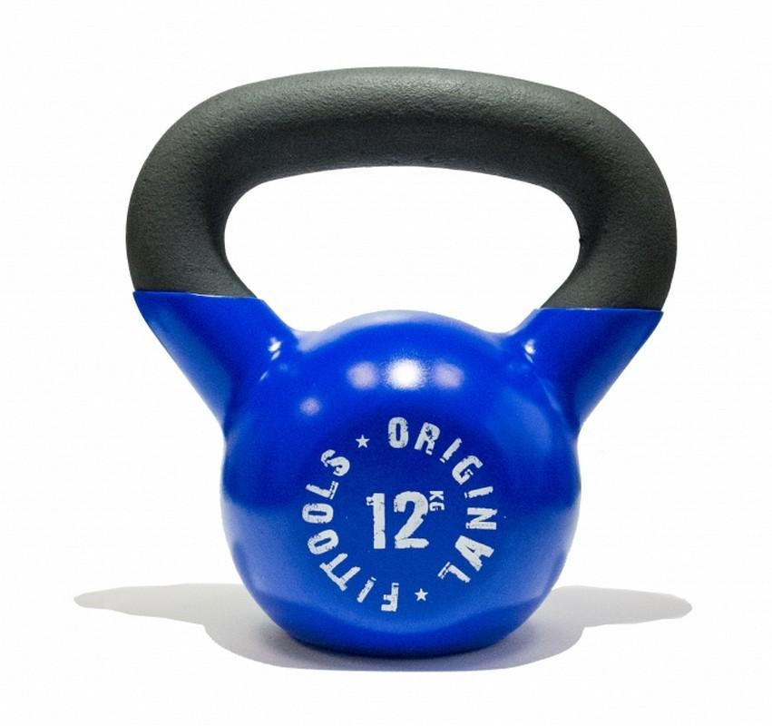 Гиря Original Fit.Tools 12 кг обрезиненная FT-K12-B синяя