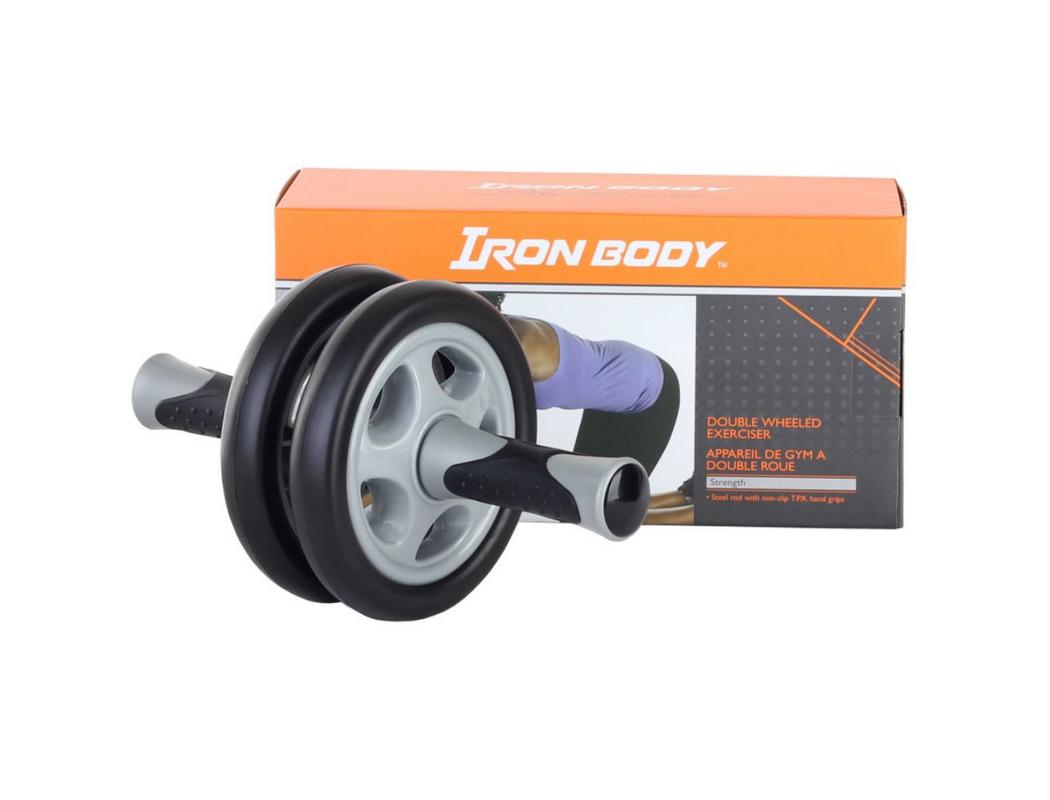 Колесико гимнастическое двойное Iron Body 1629EG-IB