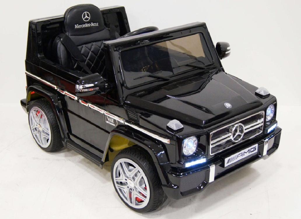 Электромобиль River-Toys G-65 (LS-528) (лицензия) черный глянец