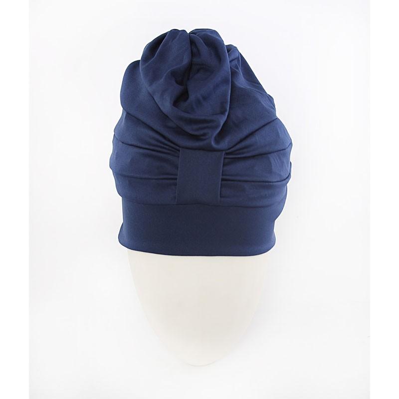 Купить Шапочка для плавания Fashy Velcro Closure женская 3473-54 полиэстер, темно-синий,