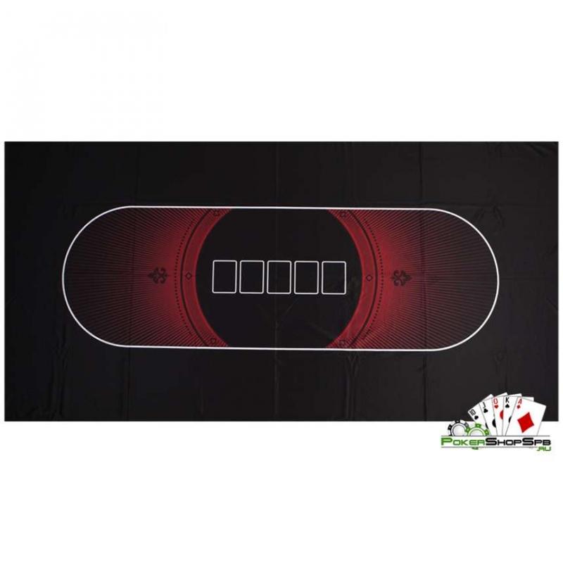 Сукно для покера suknored 180х90х0,2см, черно-красное