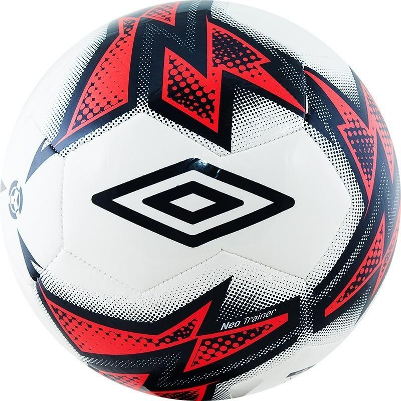 Мяч футбольный Umbro Neo Trainer 20877U (FNF) бел/т.син/роз. (р.4)