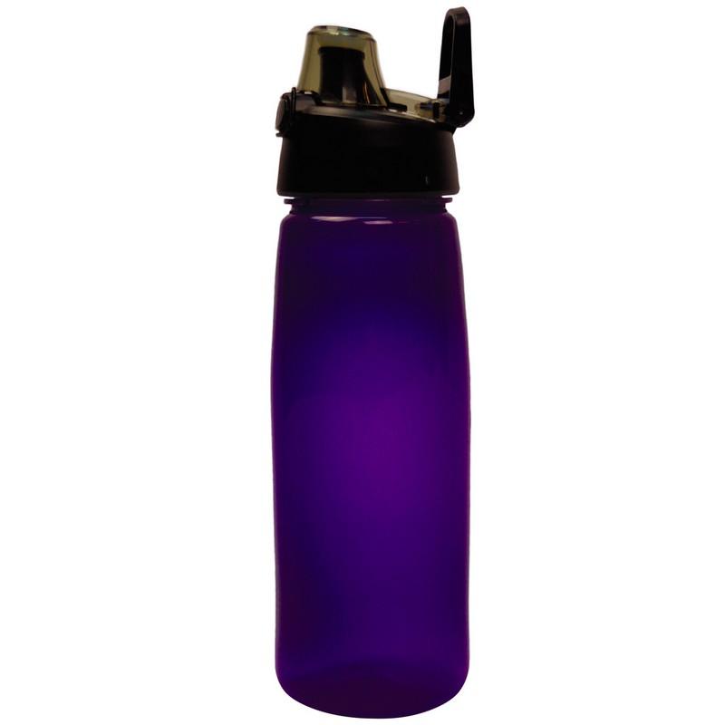 Купить Бутылка для воды Bool-Bool с автоматической кнопкой, 750 ml, фиолетовый, NoBrand