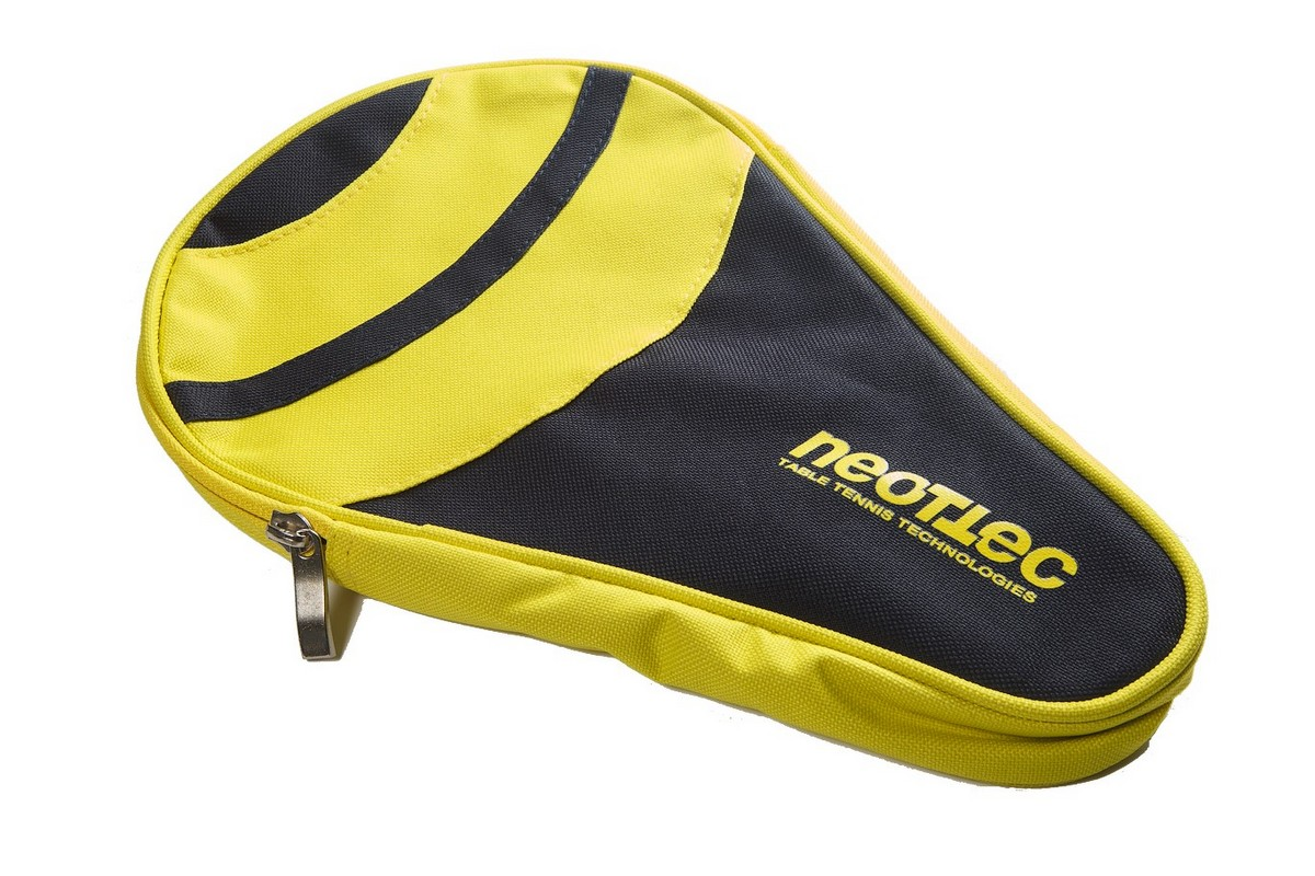 Чехол по форме ракетки для настольного тенниса одинарный Neottec Gala синий-жёлтый ракетка для настольного тенниса neottec 500 коническая ручка