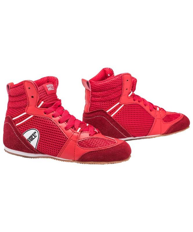 Купить Обувь для бокса Green Hill PS006 низкая, красный,