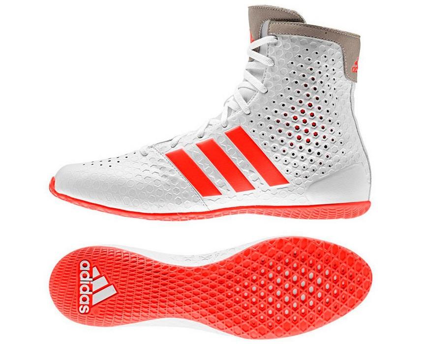 Боксерки Adidas KO Legend 16.1 бело-красные AF5533