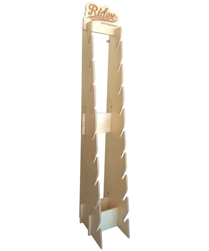 Стойка для скейтбордов Ridex Дуга, пристенная, 190 см