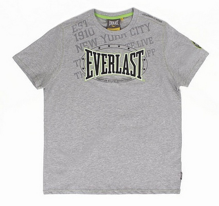 Футболка Everlast Premium Sports серый EVR9017 GR брюки спортивные everlast premium sports evr8866 gr серые