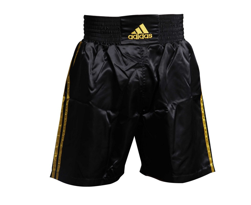 Шорты боксерские Adidas Multi Boxing Shorts черно-золотые adiSMB01