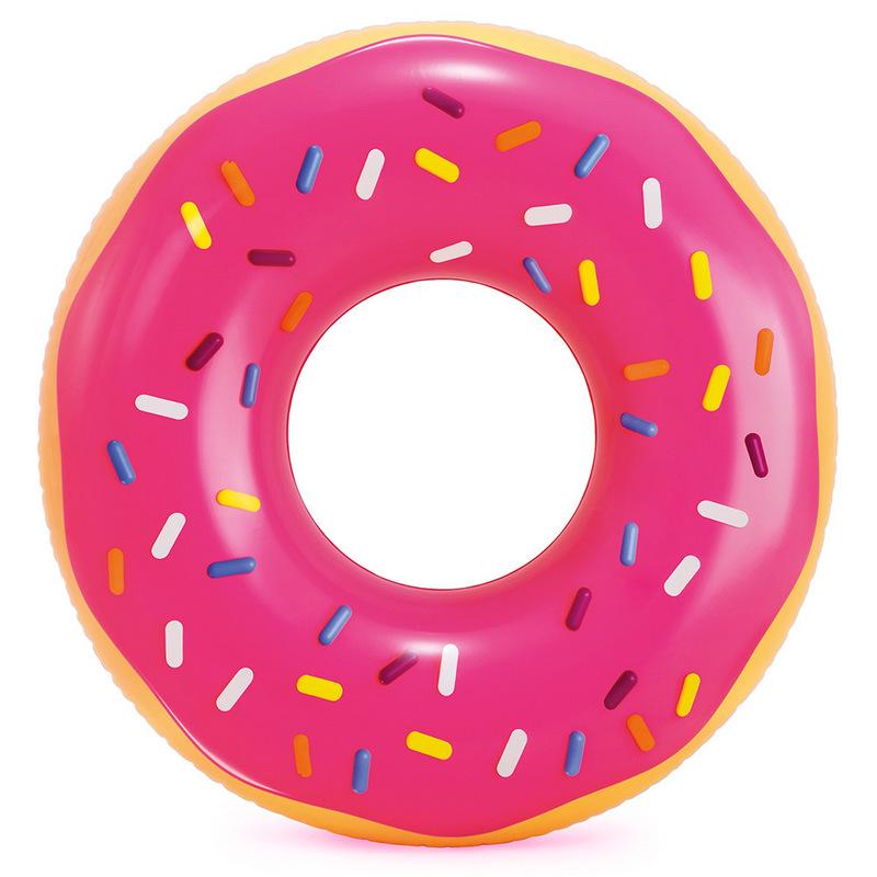Надувной круг 99х25см Розовый пончик от 9 лет Intex 56256