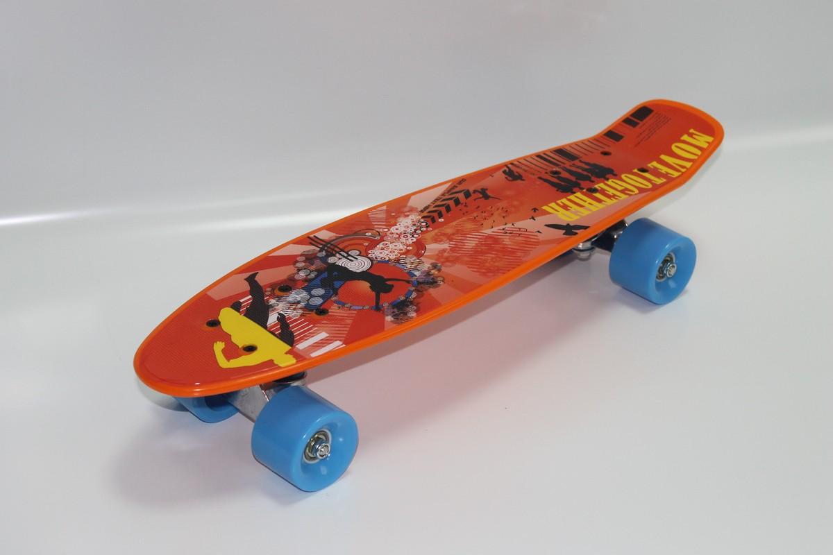 Мини-круизер RGX PNB-07 orange 01 скейтборд rgx small 2