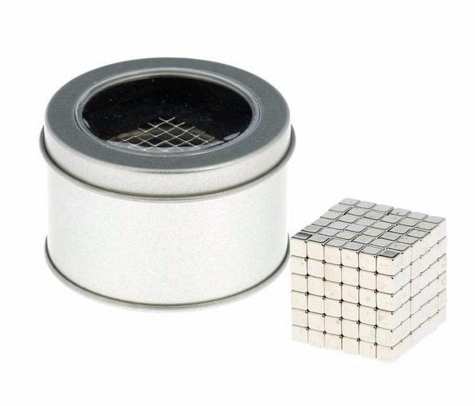 Антистресс магнит Неокуб 216 кубиков серебро