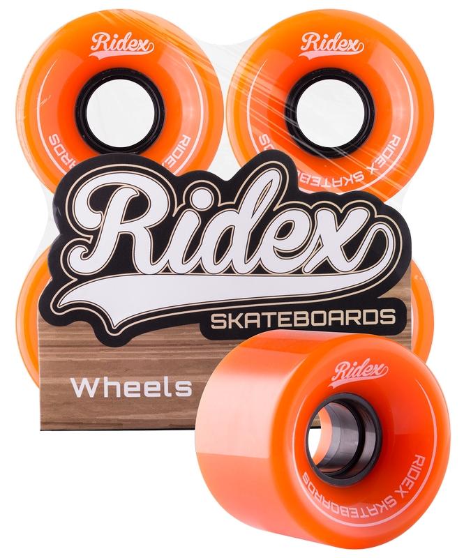 Комплект колес для круизера Ridex SB, 82А, 60x45мм, оранжевый, 4 шт.
